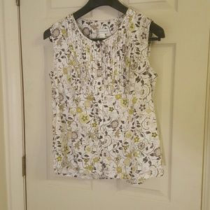 CHRISTOPHER & BANKS SLEEVELESS TOP SIZE L